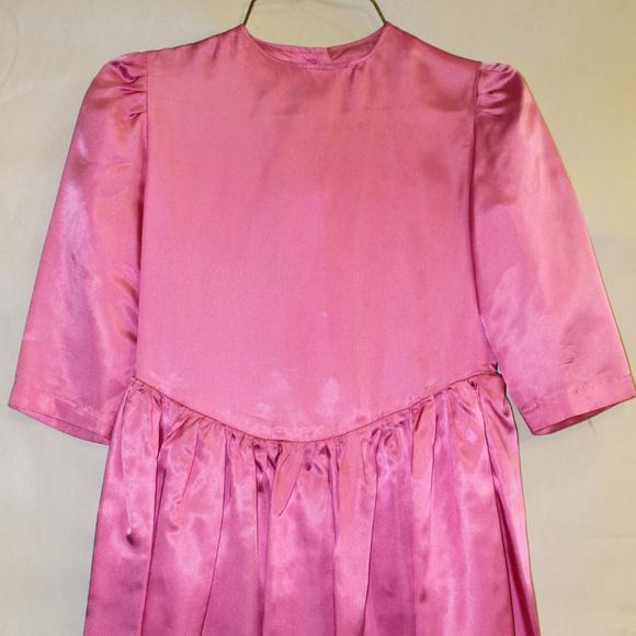 Handmade Other - Girl's Pink Satin Dress